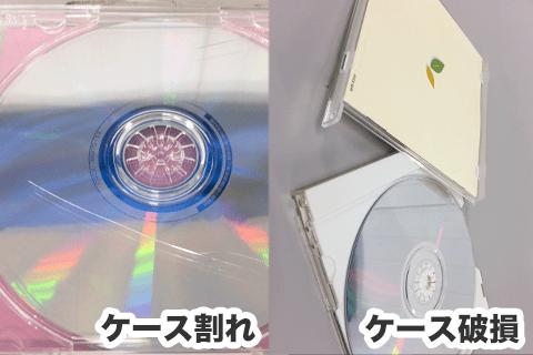 CD/DVDケースが破損、欠品している